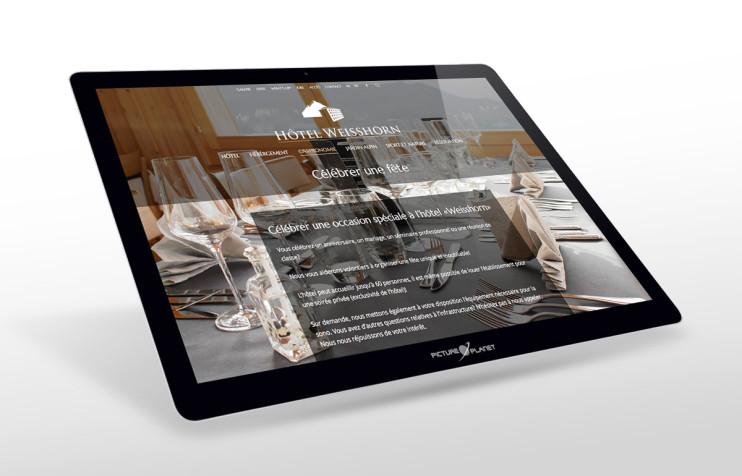 Hotel Weisshorn St.Luc, Webdesign aus Winterthur