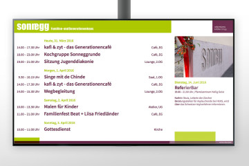 Infodisplay ref. Hoengg Zürich